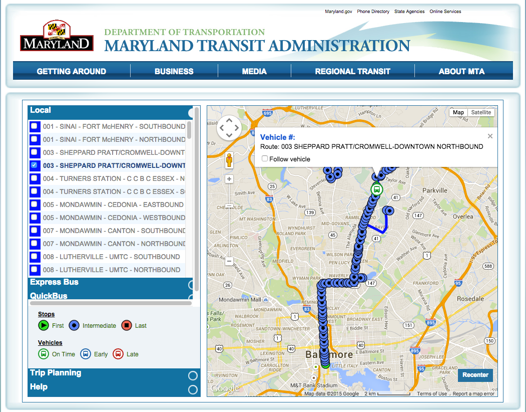Anatomy of a Civic Hack: Freeing Baltimore\'s Real-time Bus Data ...